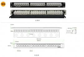 超六类24口非屏蔽配线架 PNA24-UC6A