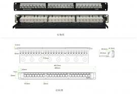 六类24口非屏蔽配线架JKA09 PNA24-UC6